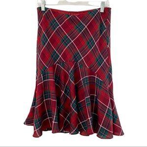 Chaps Tartan Plaid Ruffle Skirt Size 4